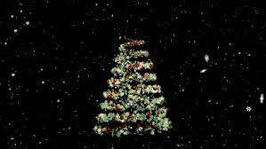 classic christmas motion background animation perfecty loops animated christmas tree with a bright tree topper poised against a