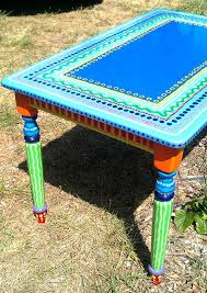 Painted Kitchen Table Ideas by Best 25 Colorful Kitchen Tables Ideas On Pinterest Diy Dinning