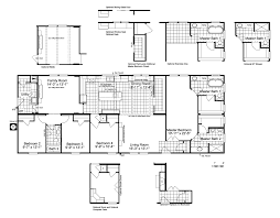 Home Floor Plans The Lucky 7 Model Ii Ml28724l Manufactured Home Floor Plan Or