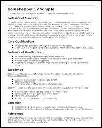 resume exles housekeeping housekeeping resume sle fascinating housekeeper resume exles
