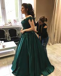 engagement dresses emerald green satin engagement dresses lace shoulder prom