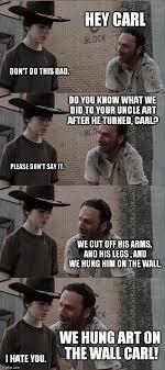 Rick And Carl Meme - rick and carl long memes pinterest walking dead walking dead