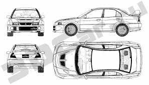 mitsubishi lancer drawing чертеж mitsubishi lancer evolution vi 3dcar ru 3d модели