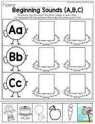 beginning sounds help preschool students master their letter