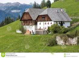 farm houses typical farm houses in south tyrol italy stock photo image
