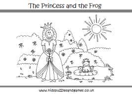 Princesses Kids Puzzles And Games Princess And The Frog Sheets