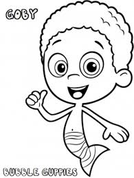 goby bubble guppies printable gobby bubble guppies coloring