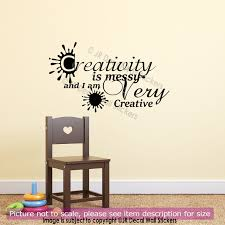enjoy with band wall decal by creative width 30x9 inches arafen creativity is messy and i am very creative nursery quote wall art sticker qw homework
