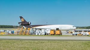 North Carolina travel air images Ups md 11f air cargo freighter plane parked at raleigh durham