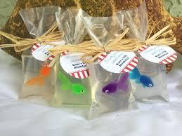 unique party favors unique baby shower party favors fish soap fish in a bag soap set