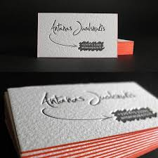 25 beautiful exles of letterpress business cards design