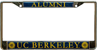 uc berkeley alumni license plate frame alumni basics