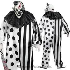 Killer Clown Costume Cl774 Killer Circus Clown Costume Mens Halloween Horror Scary