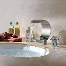 2017 larcolais waterfall dual handle tub faucet bathroom