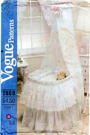 vogue 2869 1980s baby accessories for bassinet pattern by mbchills