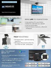 mount it tv ceiling mount kitchen under cabinet tv bracket