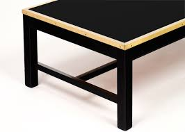 coffee tables breathtaking french vintage black glass brass