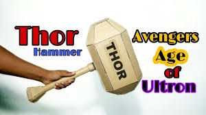 how to make thor s hammer with cardboard avengers age of ultron