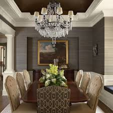 Textured Wallpaper Ceiling by Classy Dining Room With Recessed Ceiling Painted A Dark Color