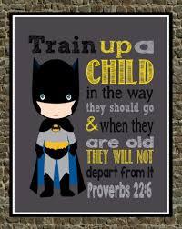 batman christian superhero nursery decor art print train up a