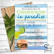 Retirement Party Invitation Card Jimmy Buffett Margaritaville Party Invitation
