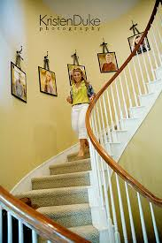 Decorating with Portraits Up the stairs