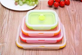 new silicone kids food container lunch box fridge sealed box