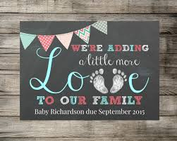baby announcement baby pregnancy announcement we re adding a more