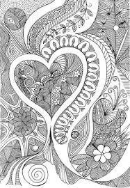 3 hearts doodles zentangles tangled