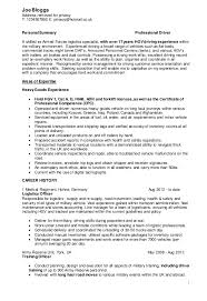 Military Resume Examples For Civilian by Military Civilian Cv Driver