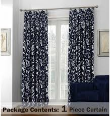 Blue Floral Curtains Navy Blue Floral Chenille Thermal Bedroom Curtains Fleur Chinoise