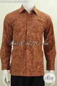 desain jaket warna coklat jual baju batik lengan panjang motif terbaru proses cap smoke