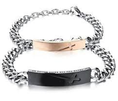 black rose bracelet images China 2018 black rose gold color cross bracelet for men women jpg