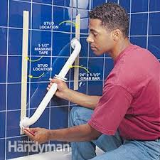 Bathtub Grab Bars How To Install Bathroom Grab Bars Family Handyman