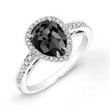 teardrop diamond ring 1 35ct pear shape black diamond engagement ring