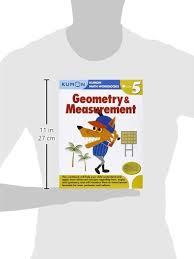geometry u0026 measurement kumon math workbooks grade 5 paperback