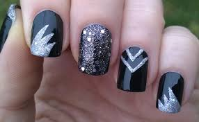life world women black party nails for new year u0027s eve with silver