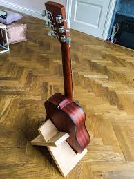 build this simple guitar stand from a single board of wood make