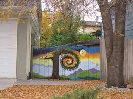 Fence Backyard Ideas by 60 Best Painted Fences Images On Pinterest Painted Fences