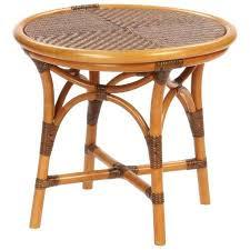 round rattan side table traditional side table rattan round ts 006 yamakawa rattan