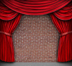 brick backdrop curtain stage printed fabric