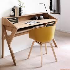 Schreibtisch In Schwarz Origami Schreibtisch Ethnicraft Aus Holz Mit Schubladen Aus Mdf