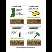 minecraft valentines cards valentines day cards