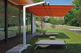Patio Umbrellas Offset Fim Flexy Aluminum 8 X 14 Rectangular Offset Patio Umbrella
