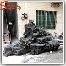 Artificial Landscape Rocks by China Wholesale Landscaping Rock Fake Fiberglass Fake Slate Rock