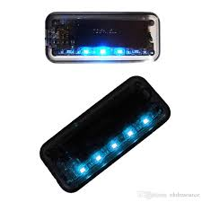 security led lights car car solar charger warning theft flash light 5 led auto sensor