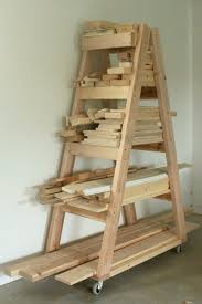 Making Wooden Shelves For A Garage by Best 25 Lumber Storage Rack Ideas On Pinterest Wood Storage