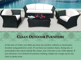 Cleaning Outdoor Furniture by Outdoor Spring Cleaning Checklist