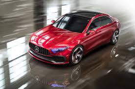 mercedes concept car concept a sedan promises a sleek future for mercedes roadshow