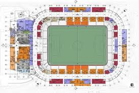 stadium floor plan populous wraps bbva compass stadium in houston with tessellated screen